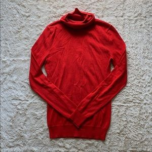 Banana Republic Basic Red Turtleneck Sweater